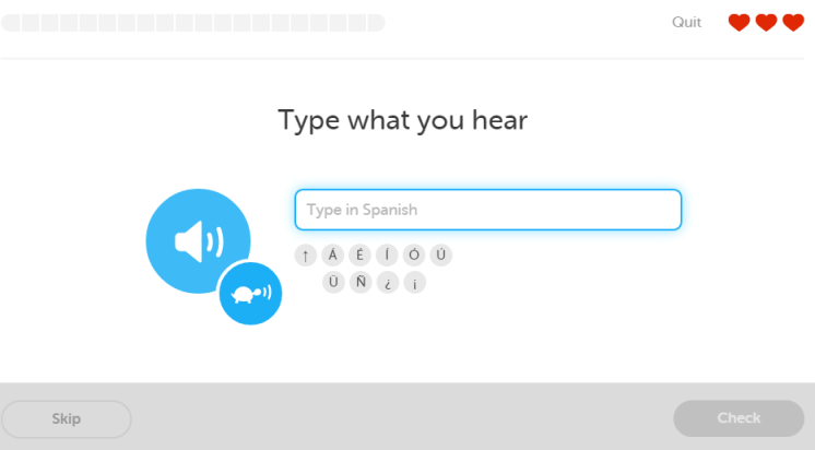 Duolingo-type-what-you-hear